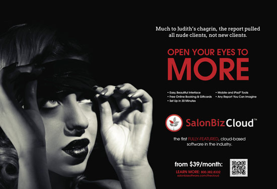 SalonBiz Cloud Ad Judith