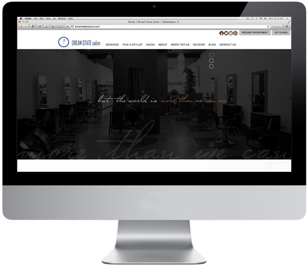 Dream State Salons Website Homepage