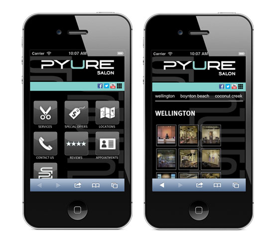 Pyure Mobile Site
