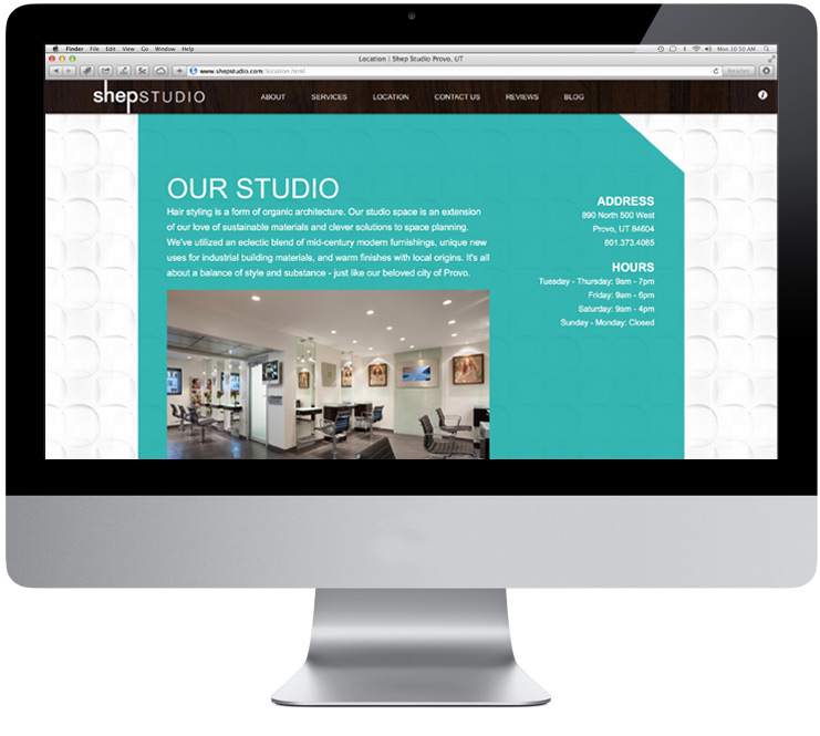 Shep Studio Website Interior
